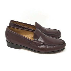 TIMBERLAND USA Burgundy Leather Penny Loafers 9